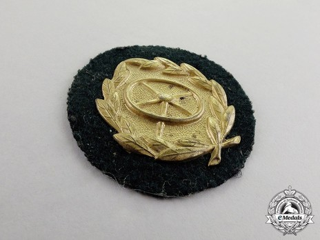 Driver Proficiency Badge, in Gold Obverse