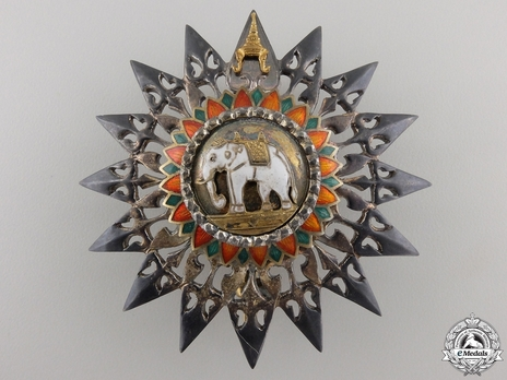 Order of the White Elephant Knight Grand Commander Breast Star (II Class) Obverse