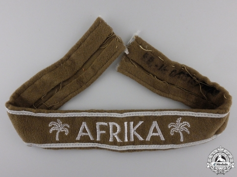 Luftwaffe Afrika (Campaign) Cuff Title  Obverse