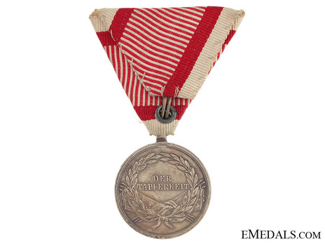 Type VIII, II Class Silver Medal (with ring suspension) Reverse