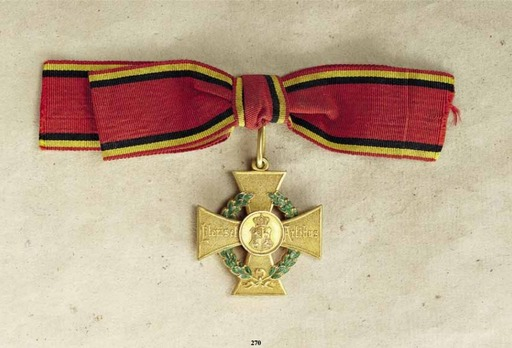 Decoration for Art and Science, I Class Gold Cross (1885-1918)