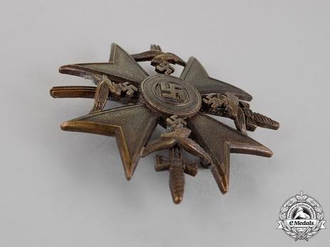 Spanish Cross in Bronze with Swords Obverse