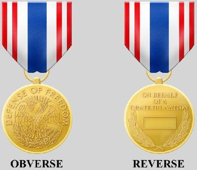 Secretary of Defense Medal for the Defense of Freedom Obverse and Reverse