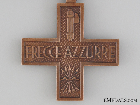 "Commemorative Cross for ""Frecce Azzurre"" Division Volunteers Reverse"