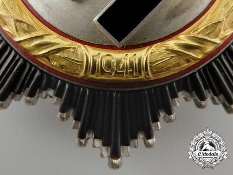 """German Cross, in Gold, by C. F. Zimmermann (""""20"""", cupal) Detail"""
