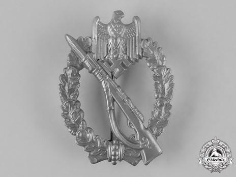 Infantry Assault Badge, by E. F. Wiedmann (in silver) Obverse