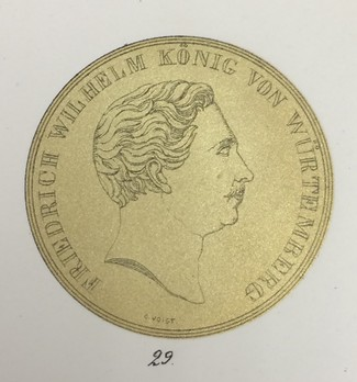 """Medal for the Arts and Sciences, Type II, in Large Gold (stamped """"C.VOIGT"""") Reverse"""