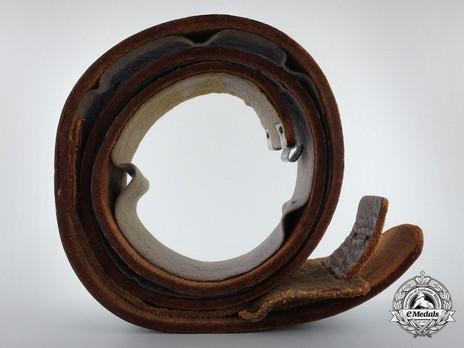 Luftwaffe Brown Leather Belt Strap Top