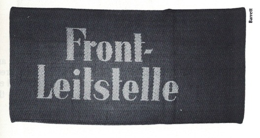 German Army Front Direction Point Armband Obverse