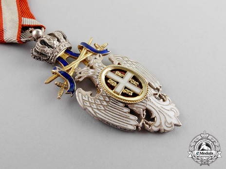 Order of the White Eagle, Type II, Military Division, V Class Obverse