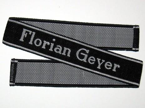 Waffen-SS Florian Geyer Cuff Title Obverse