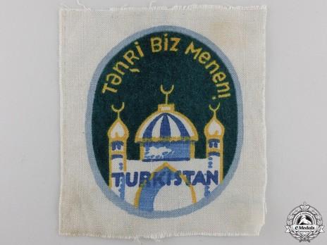 German Army Turkistan Legion Sleeve Insignia (3rd version) Obverse