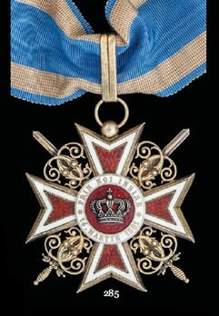 Order of the Romanian Crown, Type I, Military Division, Commander's Cross