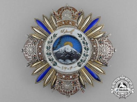 Order of Pahlavi, I Class Grand Collar Breast Star Obverse