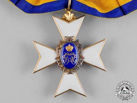 Schwarzburg Duchy Honour Cross, Civil Division, I Class Honour Cross (in gold)