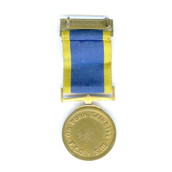 Service Medal for Local Defence Forces and Naval Reserve, Bronze (7 Years) Reverse