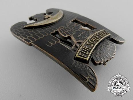 Silesian Eagle, I Class (pinback, in silver gilt) Obverse