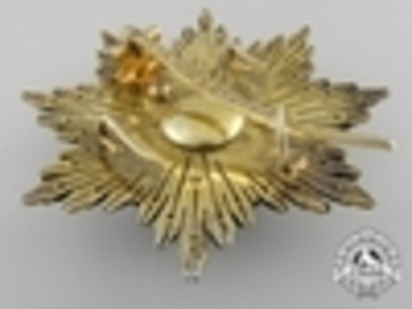 3rd Class Breast Star (white distinction) (with coat of arms of Castile and Leon, and Royal Crown) Reverse
