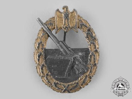 Coastal Artillery War Badge, by F. Linden Obverse