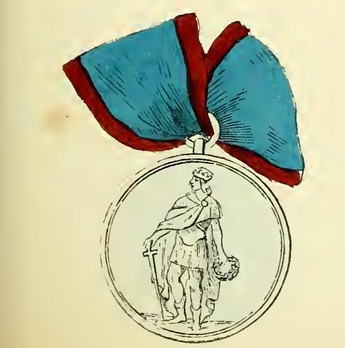 Royal Order of Saint Ferdinand and of Merit, Medal of Honour, in Silver Obverse