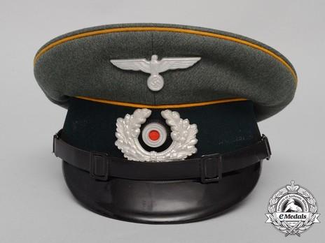 German Army Cavalry NCO/EM's Visor Cap Front