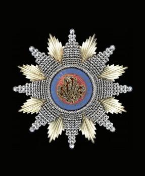 Order of Chula Chom Klao, Grand Cordon Breast Star (Special Class)