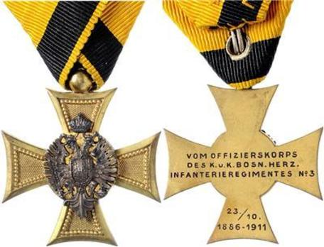Military Long Service Decoration, Type III, III Class for Officers (for 25 years with silver eagle)