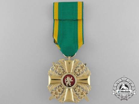 I Class Knight with Swords (in gold) Reverse with Ribbon