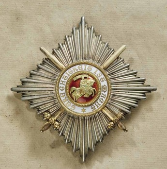 Order of Berthold I, Commander Breast Star with Swords (in silver and silver gilt)