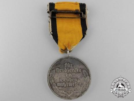 Mine Rescue Service Decoration, Type III (in silvered bronze) Reverse