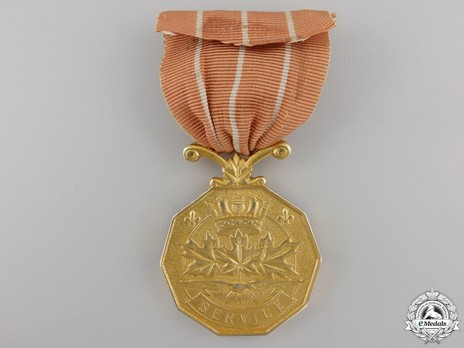 Canadian Forces' Decoration, Type II (with young profile wearing laurel wreath crown) Reverse