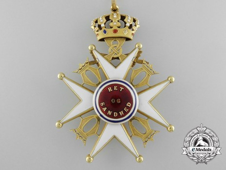 """Order of St. Olav, II Class Commander, Military Division (stamped """"J. TOSTRUP OSLO"""") Reverse"""