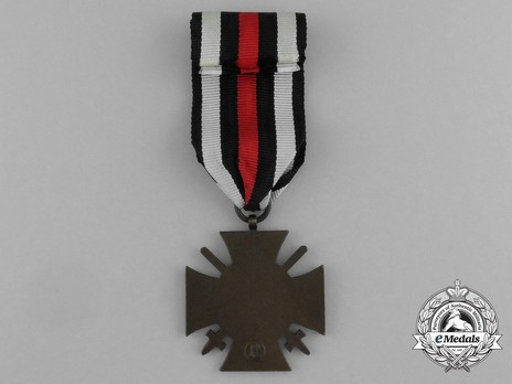 Honour Cross of the World War 1914/1918 (for front line combatants) Reverse