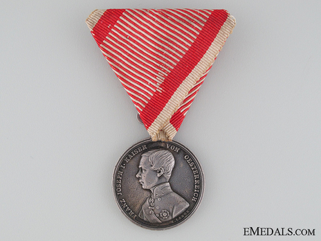 Type V, II Class Silver Medal (with left facing profile) Obverse