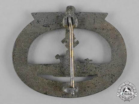 Submarine War Badge, by Gebrüder Wegerhoff Reverse