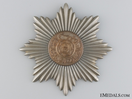 Order of the Star (Nishan-i-Astour), Type II, III Class (with copper and silver) Obverse