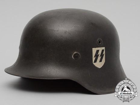 Waffen-SS Single Decal Steel Helmet M42 Profile
