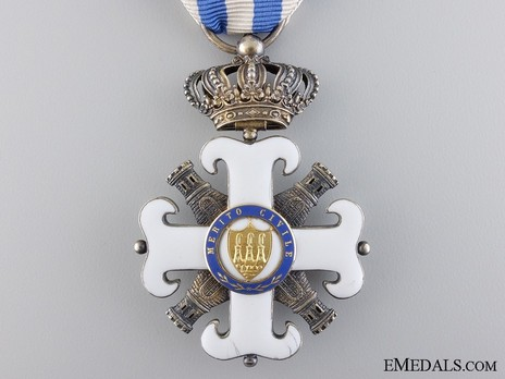 Order of San Marino, Type I, Civil Division, Knight Reverse