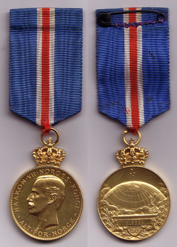 """Southpole Medal (stamped """"THRONDSEN F."""") Obverse and Reverse"""