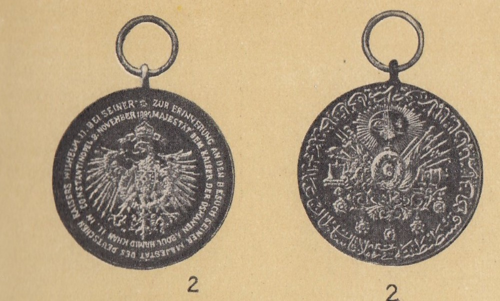 Turkey%2c+commemorative+medal+of+kaiser+wilhelm+the+second%2c+in+gold