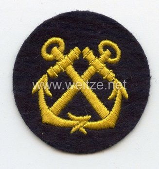 Kriegsmarine Enlisted Men Navigating Helmsman Insignia Obverse