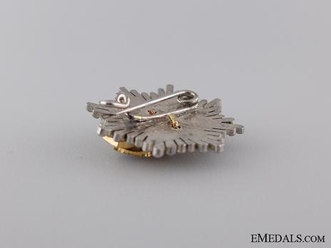 Miniature 2nd Class Breast Star (white distinction) Reverse