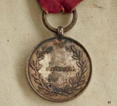 Peninsula Medal for Officers, Type I (by Brasseux Freres)