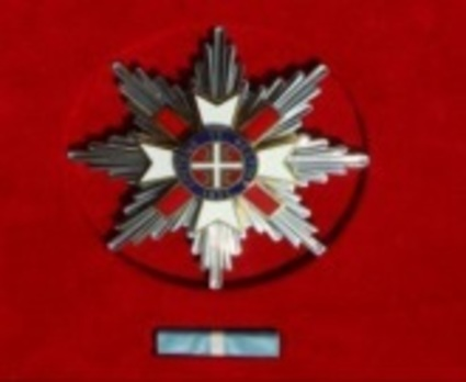 Order of Stretenjski, I Class Breast Star Obverse