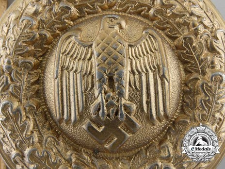 German Army General's Dress Belt Buckle Detail