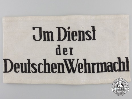 German Army Non-German Civilian Armband Obverse