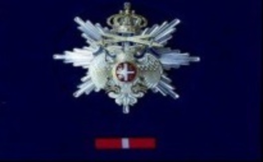 Order of the Republic White Eagle, I Class Breast Star Obverse