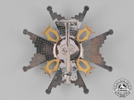 Order of St. Olav, Commander Breast Star, Military Division Reverse