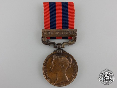 """Bronze Medal (with """"BURMA 1885-7"""" clasp) Obverse"""