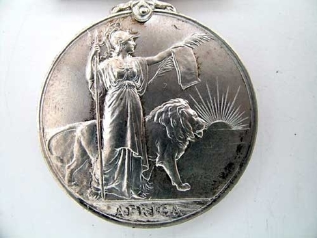 """Silver Medal (with """"GAMBIA"""" clasp)  Reverse"""